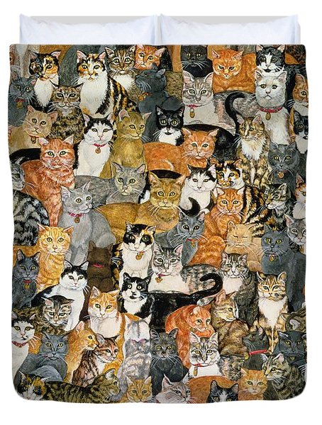 Double Cat Spread Duvet Cover