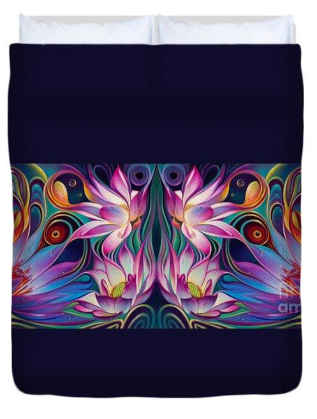 Double Floral Fantasy 2 Duvet Cover