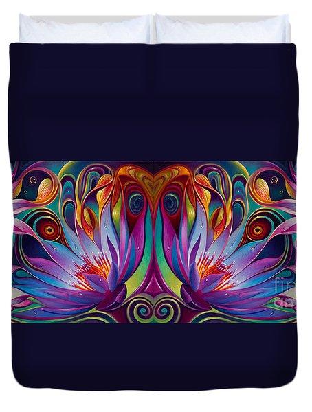 Double Floral Fantasy Duvet Cover