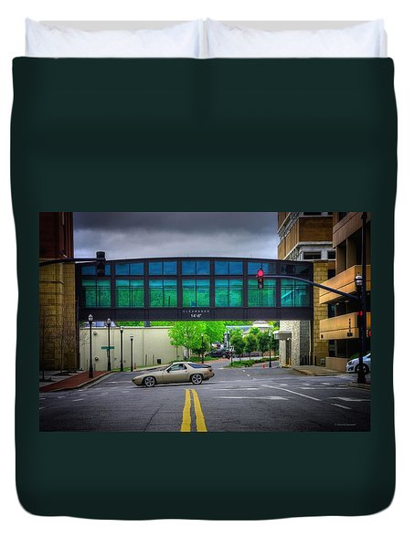 Duvet Cover featuring the photograph Double Line by Dennis Baswell