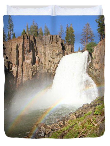Double Rainbow Falls Duvet Cover