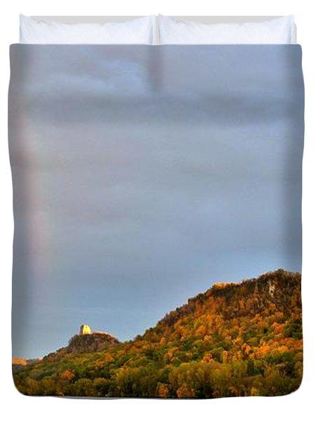 Double Rainbow Duvet Cover