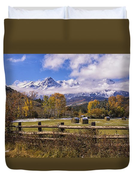 Double Rl Ranch Duvet Cover by Priscilla Burgers