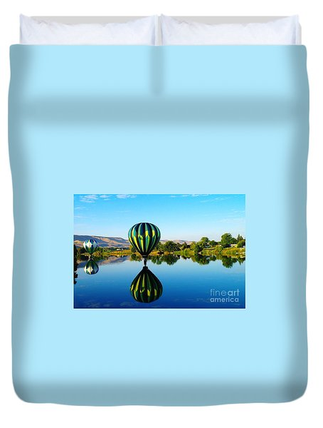 Double Touchdown  Duvet Cover by Jeff Swan