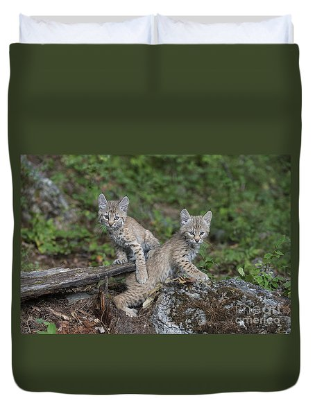Double Trouble Duvet Cover by Sandra Bronstein