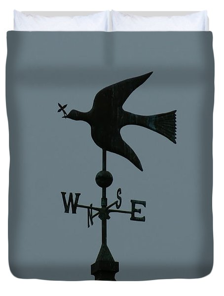 Dove Weathervane Duvet Cover by Ernie Echols