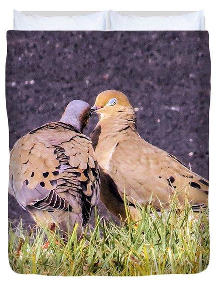 Doves Kisses Duvet Cover by Zina Stromberg