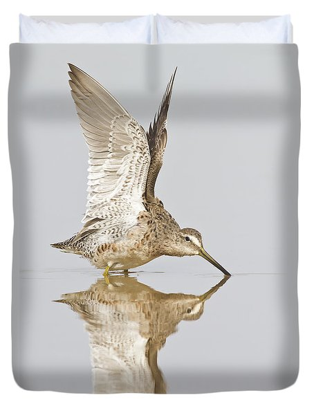 Dowitcher Wing Stretch Duvet Cover by Bryan Keil