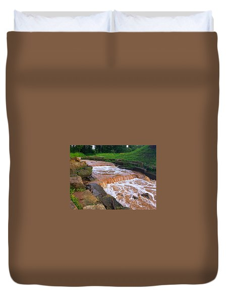 Down A Creek Duvet Cover by Chris Tarpening