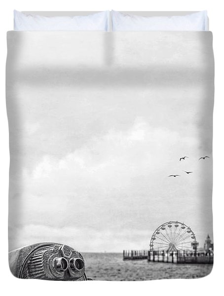 Down At The Pier Duvet Cover by Edward Fielding