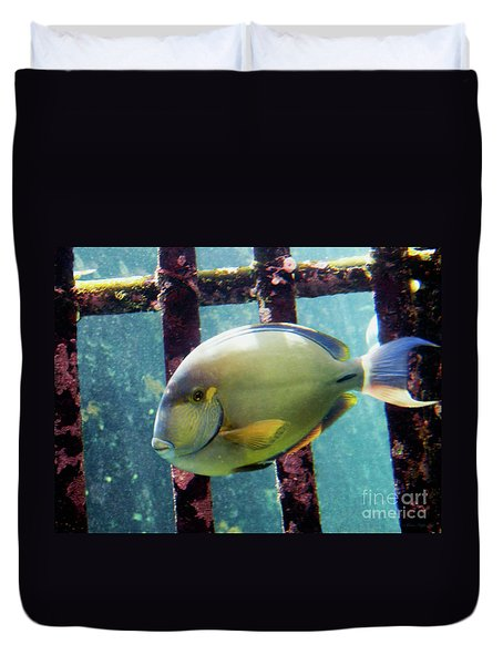 Down At The Shipwreck Duvet Cover