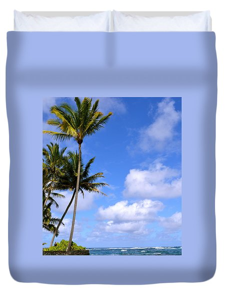 Down By The Ocean In Hawaii Duvet Cover