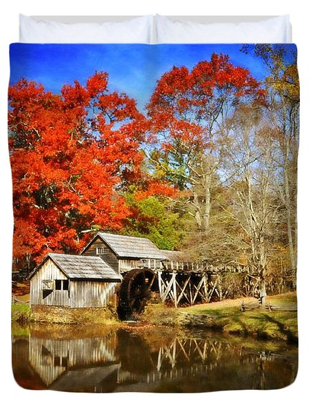 Down By The Old Mill Stream  Duvet Cover by Lynn Bauer