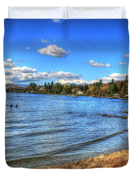Duvet Cover featuring the photograph Down By The Riverside by Doc Braham