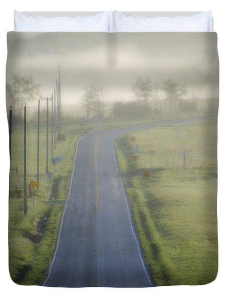 Down Roads Unknown Duvet Cover by Bill Cannon