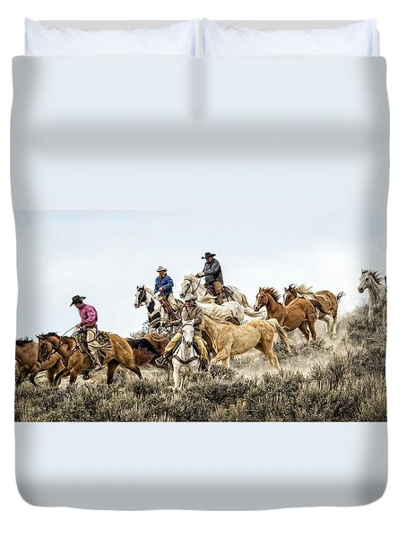 Down The Hill Duvet Cover