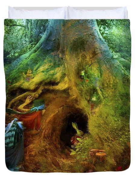 Down The Rabbit Hole Duvet Cover