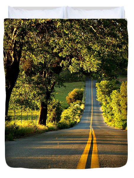 Down The Road Duvet Cover by Sharon Soberon