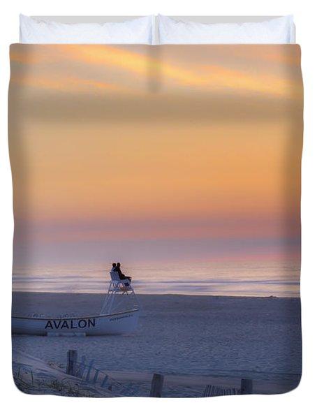 Down The Shore - Avalon New Jersey Duvet Cover
