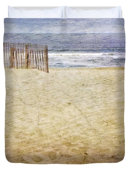 Duvet Cover featuring the photograph Down The Shore by Debra Fedchin