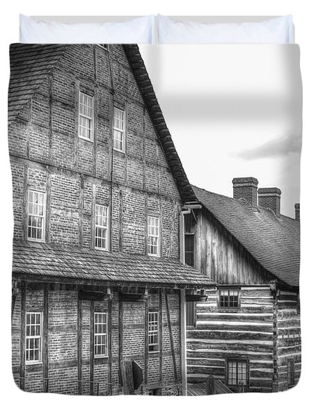 Down The Street In Old Salem Duvet Cover by Diego Re