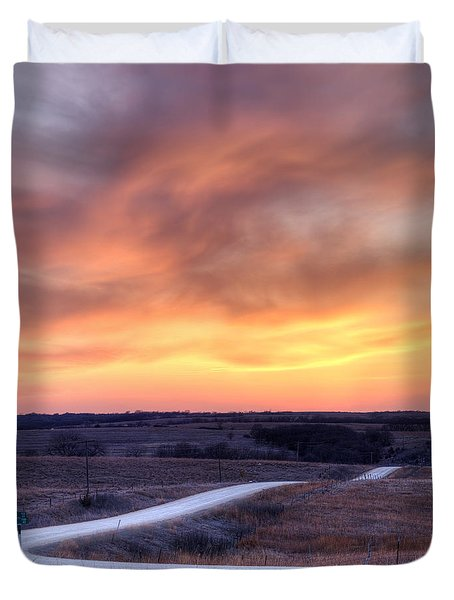 Down To The Rolling Hills Duvet Cover