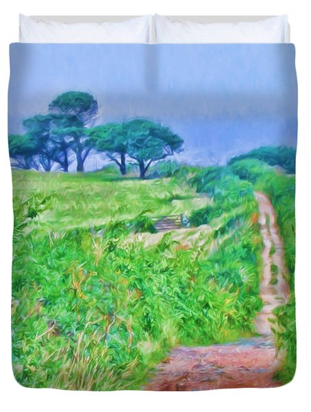 Down To The Sea Herm Island Duvet Cover