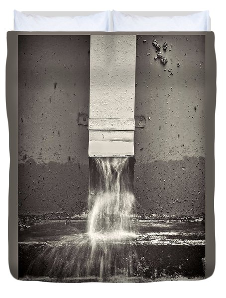 Downspout Duvet Cover by Rudy Umans