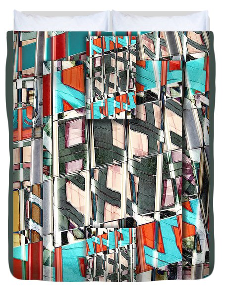 Downtown 2 Duvet Cover by Elena Nosyreva