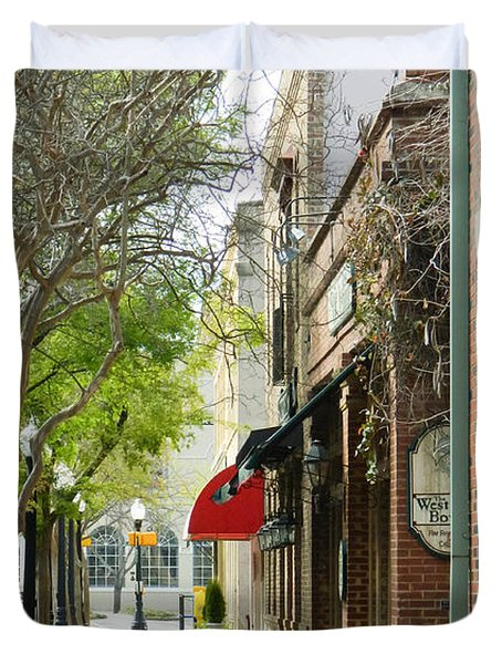 Downtown Aiken South Carolina Duvet Cover by Andrea Anderegg