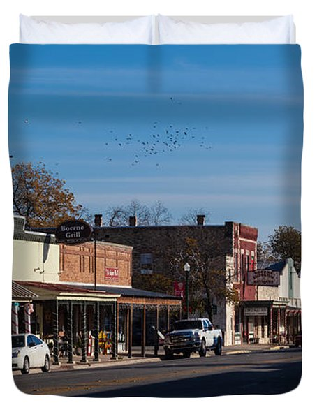 Downtown Boerne Duvet Cover