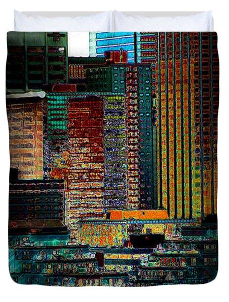 Downtown Chaos Duvet Cover by Stuart Turnbull
