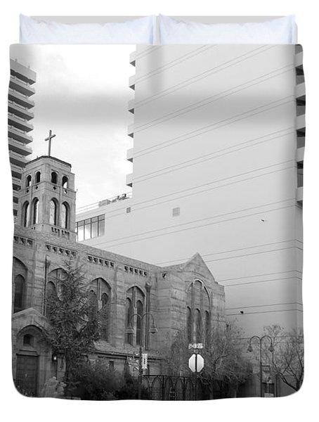 Downtown Church  Duvet Cover