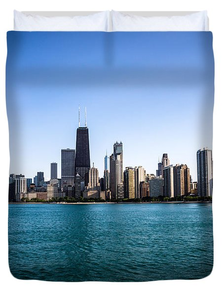 Downtown City Buildings In The Chicago Skyline Duvet Cover by Paul Velgos