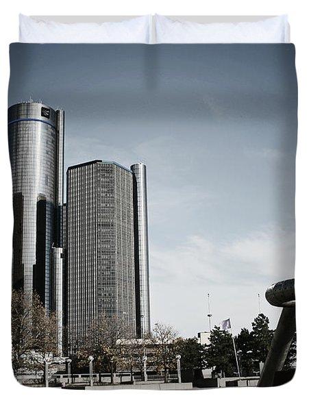 Downtown Detroit Duvet Cover
