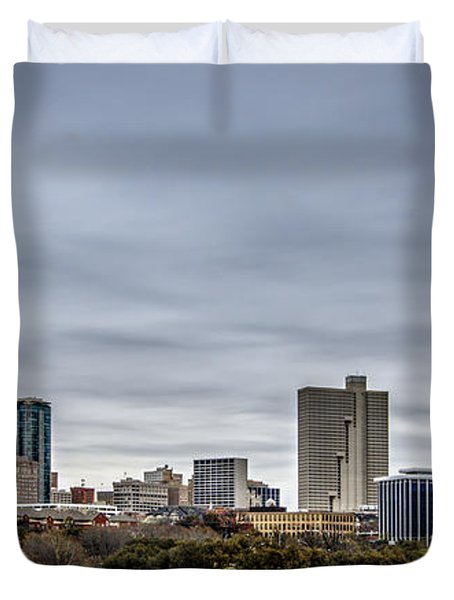 Downtown Fort Worth Trinity Trail Duvet Cover