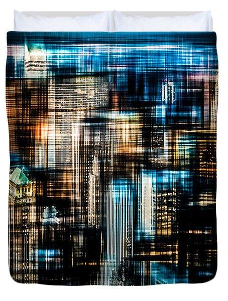 Downtown II - Dark Duvet Cover by Hannes Cmarits