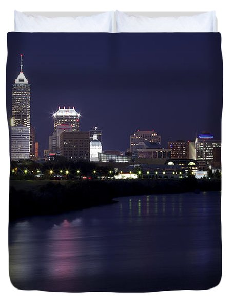 Downtown Indianapolis Indiana  Duvet Cover by Anthony Totah