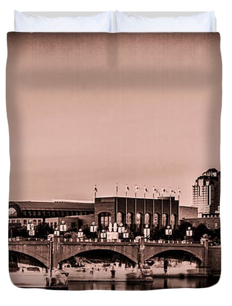 Downtown Indianapolis Duvet Cover
