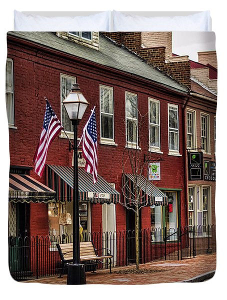 Downtown Jonesborough Tn Duvet Cover