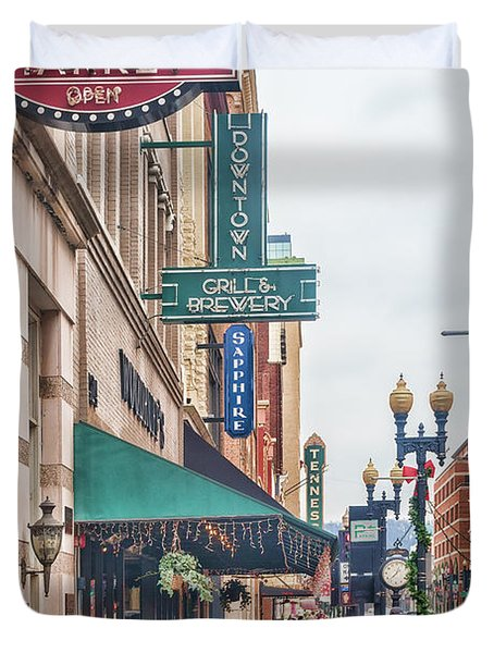 Downtown Knoxville Duvet Cover