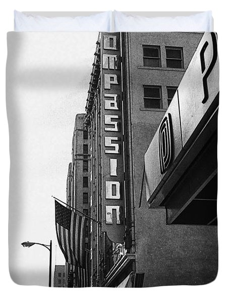 Duvet Cover featuring the photograph Downtown La - Mid '70's by Doc Braham