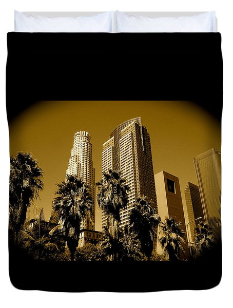 Downtown Los Angeles Duvet Cover