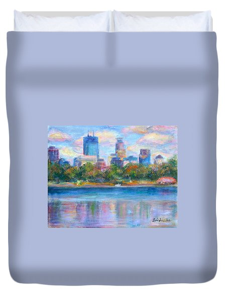 Downtown Minneapolis Skyline From Lake Calhoun Duvet Cover