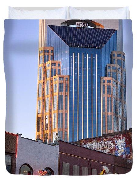 Downtown Nashville Duvet Cover by Brian Jannsen