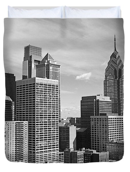 Downtown Philadelphia Duvet Cover