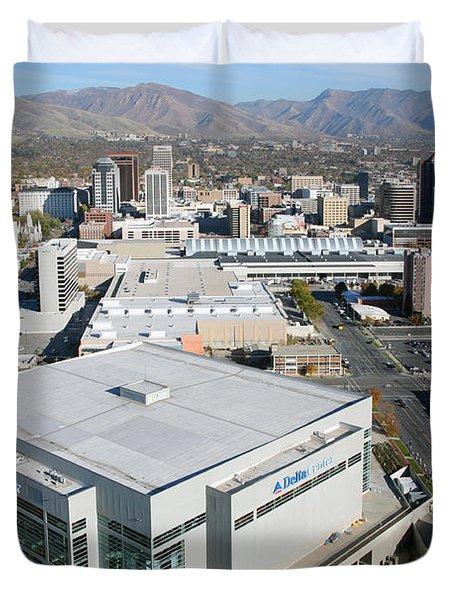Downtown Salt Lake City Duvet Cover by Bill Cobb