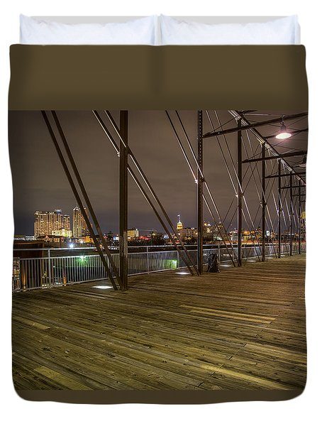 Downtown San Antonio From The Hays Street Bridge Duvet Cover