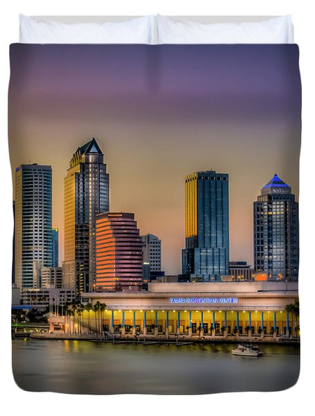 Downtown Tampa Duvet Cover by Marvin Spates