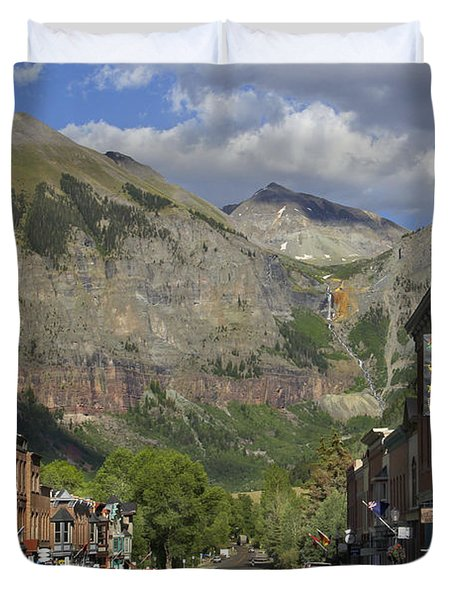 Downtown Telluride Colorado Duvet Cover